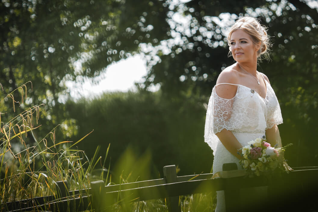 bride portrait at crossbutts stables, whitby