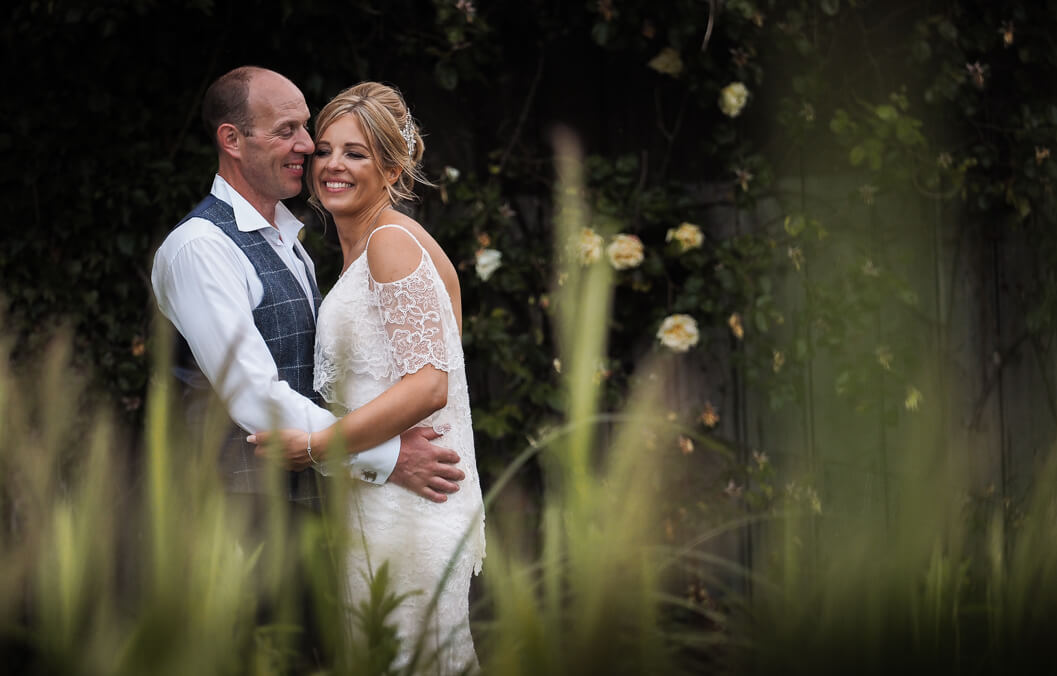 bride and groom portrait at the stables, whitby