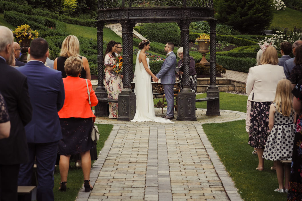 wedding ceremony at raithwaite hall