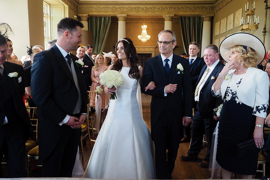 wedding ceremony at howsham hall